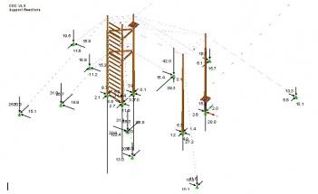 009 PrkL Model-3D wieża Reakcje