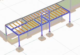 026 PachL model 3D zadaszenie