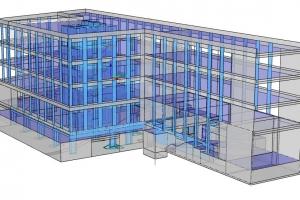 01-02 071 Budynek biurowo-usługowy z garażem podziemnym; Kraków ul. Zamknięta; 2950 m2